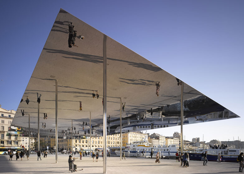 Vieux Port pavilion by Foster + Partners. Photograph by Edmund Sumner