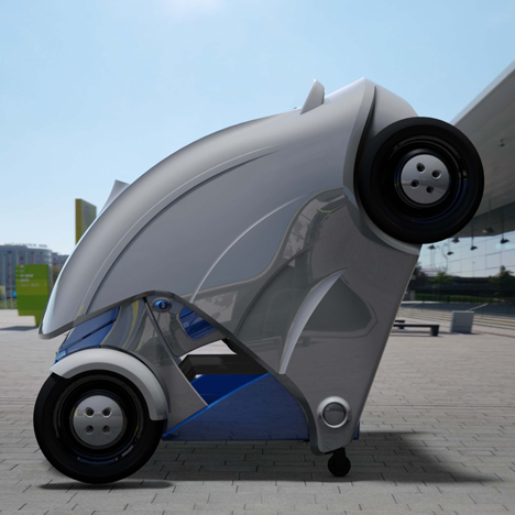 Foldable micro-electric car Armadillo-T by KAIST