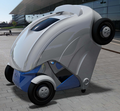 Armadillo-T foldable electric micro-car by KAIST