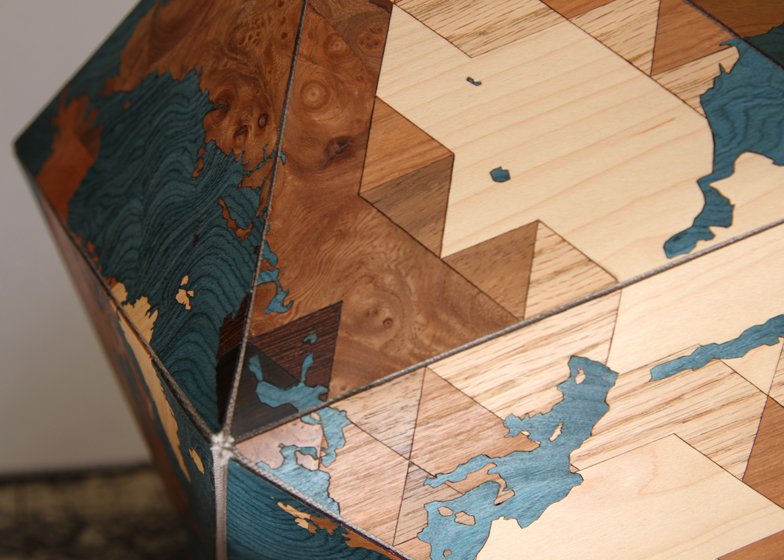 Buckminster Fuller's Dymaxion world map redesigned on