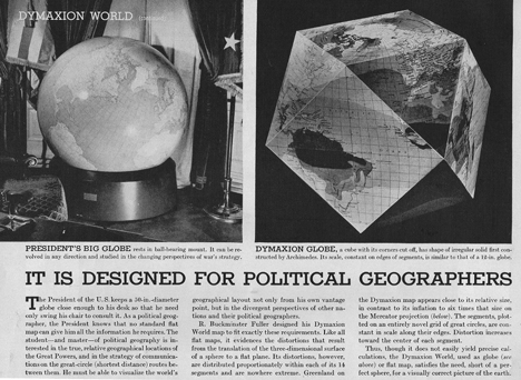Buckminster Fuller - Dymaxion Map, 1943