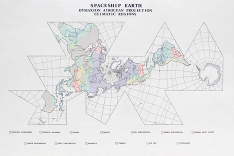 Spaceship Earth Climatic Regions by Ray Simpson