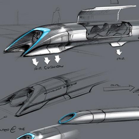 Elon Musk reveals designs for supersonic Hyperloop transport system