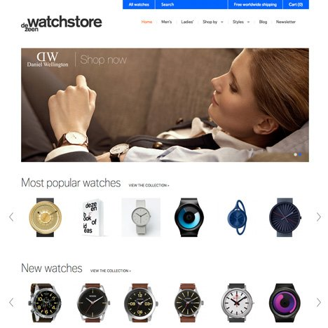 Dezeen Watch Store home page