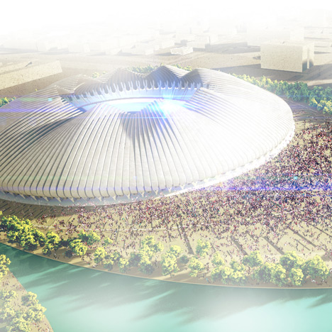 Weston Williamson unveils shape-shifting stadium for Brasilia