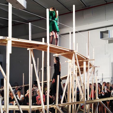 Catwalk for Up [øpp] by Gartnerfuglen Architects