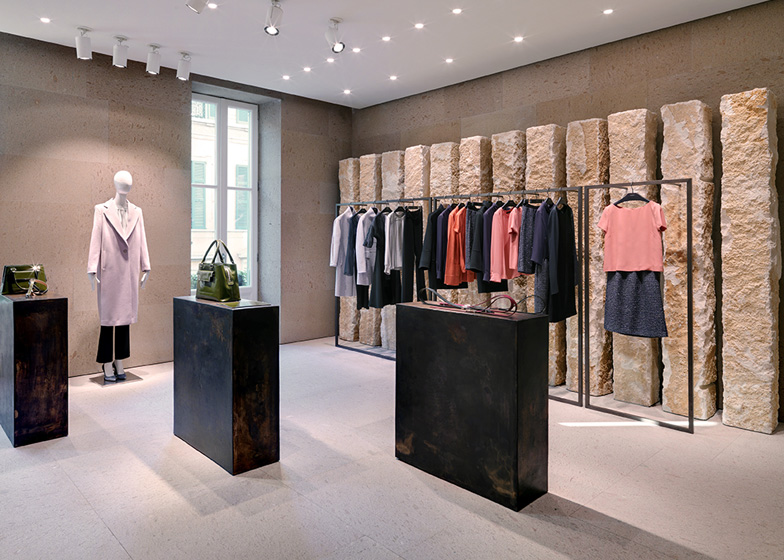 giada milan fashion boutique interior design by claudio silvestrin rh dezeen com interior design for shops Small Boutique Interior Design Ideas