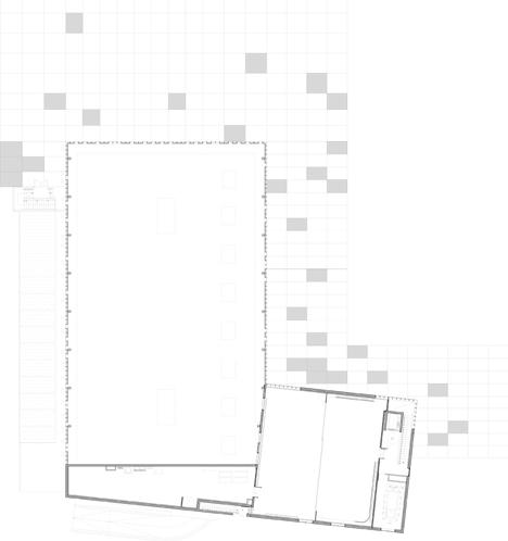 dezeen_Gymnasium and Town Hall esplanade by LAN Architecture_First floor plan