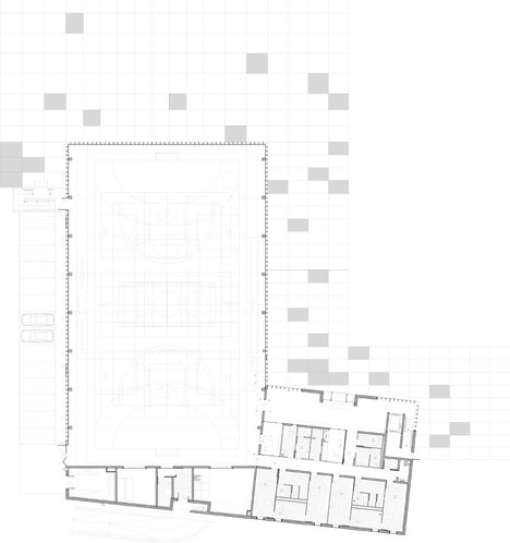 dezeen_Gymnasium and Town Hall esplanade by LAN Architecture_Ground floor plan
