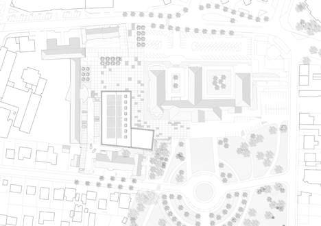 dezeen_Gymnasium and Town Hall esplanade by LAN Architecture_Site plan