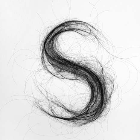 Hair Typography by Monique Goossens