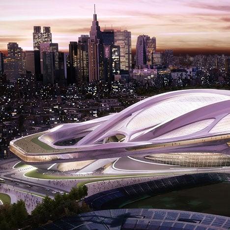 Zaha Hadid's Tokyo 2020 Olympic stadium design