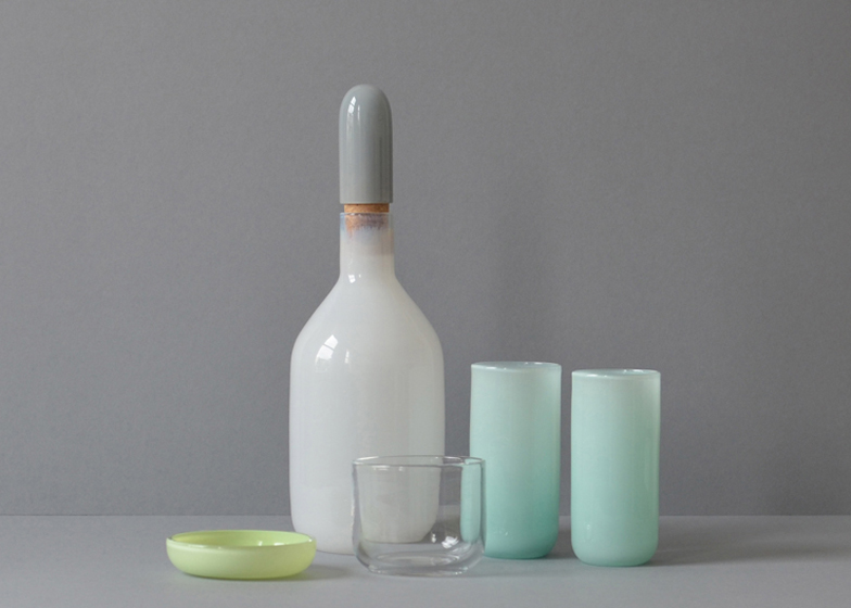 Louche glassware by Mathias Hahn