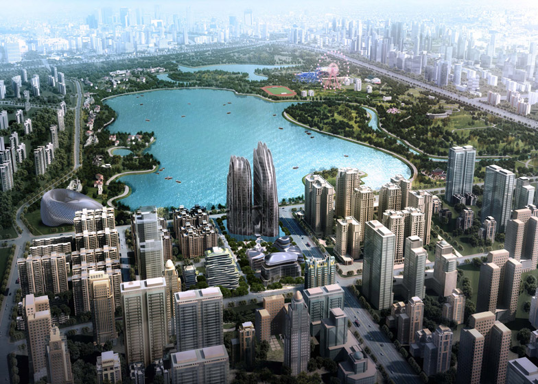 Ma Yansong unveils moutnain inspired skyscrapers for Beijing