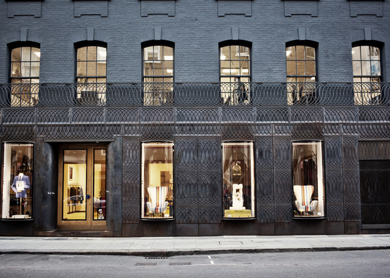 67360980ab Paul Smith Albemarle Street store facade by 6a Architects