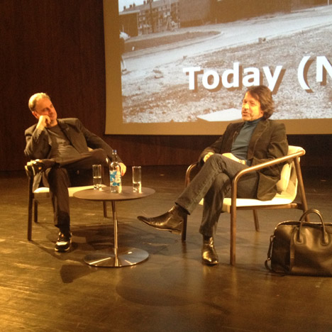 Paul Morley and Peter Saville at Global Design Forum