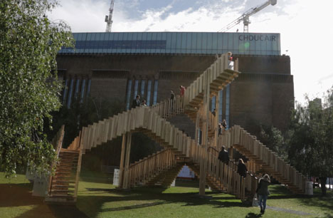 """Sculpture's gift to architecture<br /> is the staircase"" - Alex de Rijke"