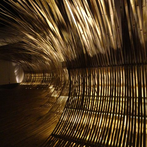 Bamboo installation at Gwangju Design Biennale by Kengo Kuma