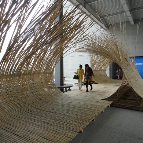Telepathy bamboo installation by Kengo Kuma