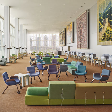United Nations North Delegates' Lounge<br /> by Hella Jongerius and Rem Koolhaas