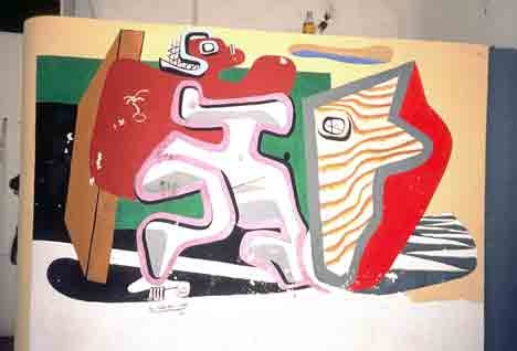 Le Corbusier mural at E1027