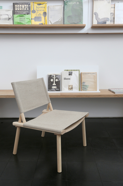 December chair in the Library of Design by Jasper Morrison