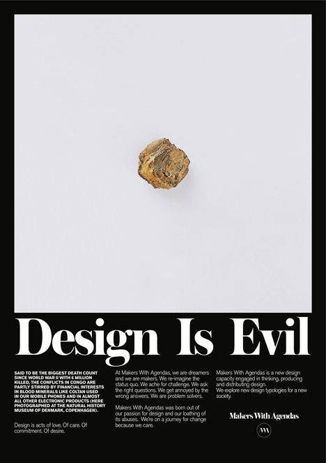 Design Is Evil by Makers with Agendas