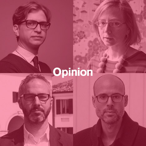 Dezeen's new Opinion columnists: Dan Hill, Alexandra Lange, Kieran Long and Justin McGuirk.