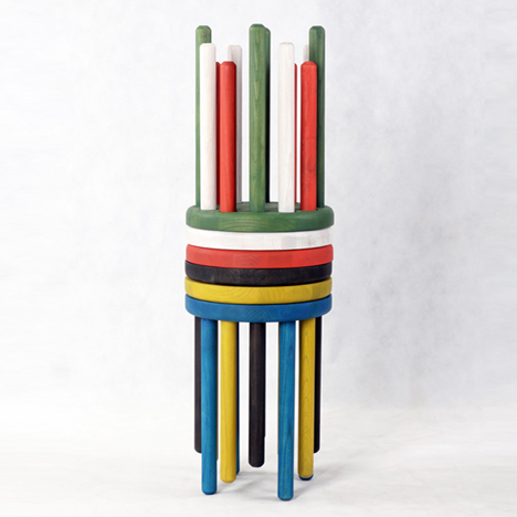Poke Stool by Kyuhyung Cho for Innermost