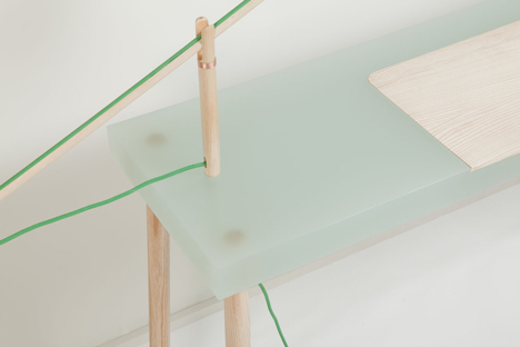 Resin tables by Roel Huisman