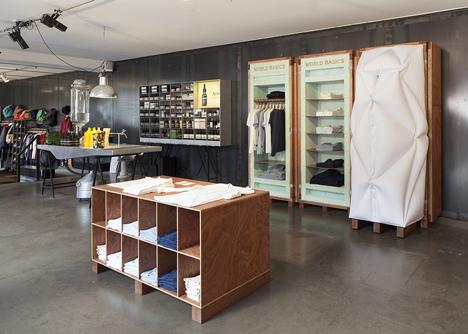 World Basics pop-up store by Schemata Architects