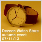 Invitation: Dezeen Watch Store autumn event 7 November