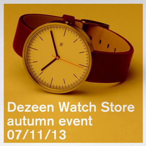 Invitation: Dezeen Watch Store autumn event 7 November