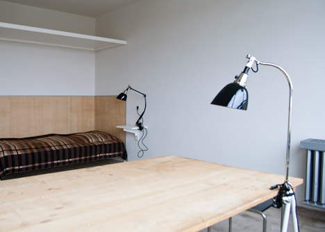 Reconstructed room at Studio Building, Bauhaus Dessau