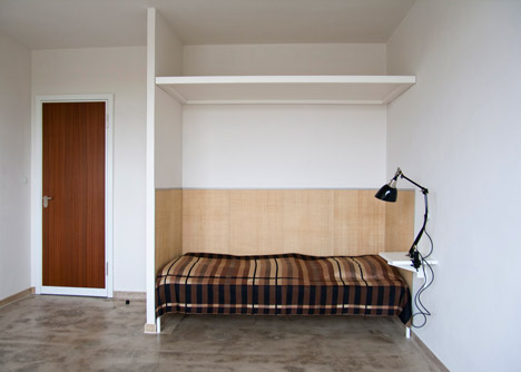 Reconstructed room at Studio Building, Bauhaus Dessau