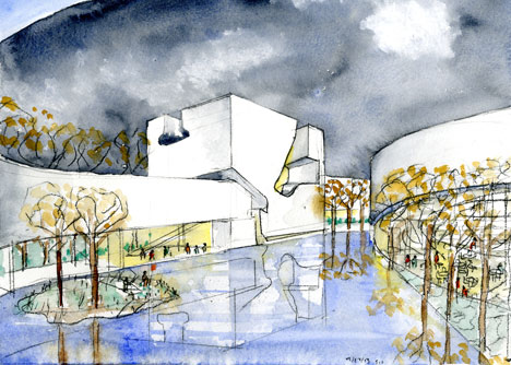 Culture and Art Centre of Qingdao City by Steven Holl