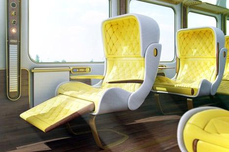 Eurostar interior concept by Christopher Jenner 2012