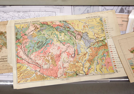 Colourful geological map