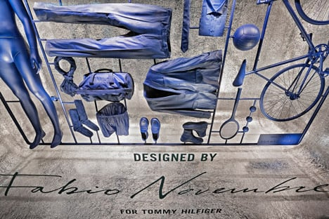 I Have a Lifestyle installation at La Rinascente by Fabio Novembre for Tommy Hilfiger