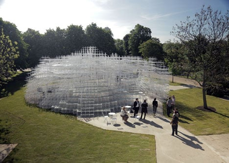 Serpentine Gallery Pavilion in London by Sou Fujimoto