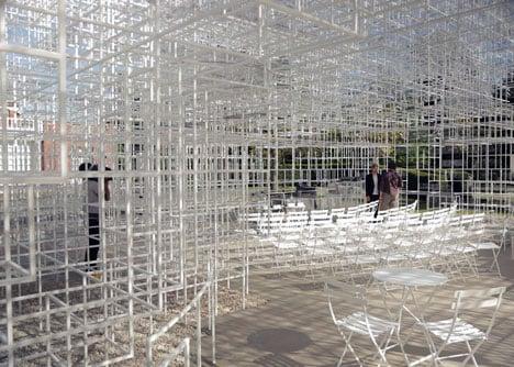 Serpentine Gallery Pavilion in London by Sou Fujimoto