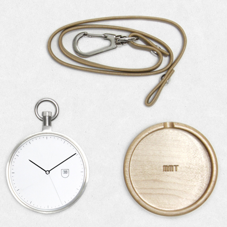 7c1d2e805 MMT Calendar wooden pocket watch now available at Dezeen Watch Store