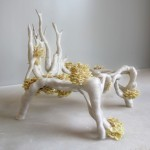 Mycelium Chair by Eric Klarenbeek is 3D-printed with living fungus