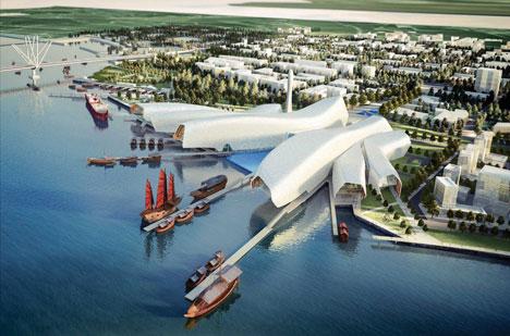National Maritime Museum of China by Cox Rayner Architects