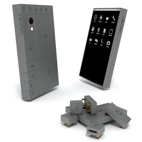 Phoneblocks lego-like mobile phone in Dezeen Mail #176