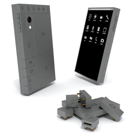 Phoneblocks lego-like mobile phone in Dezeen Mail #176
