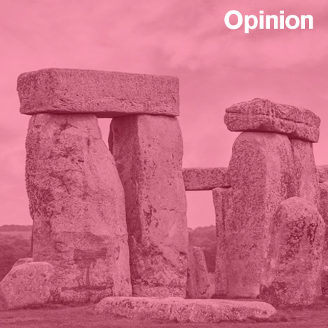 Sam Jacob Opinion on prehistoric design Stonehenge image from Shutterstock