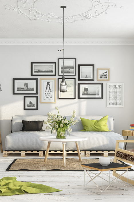 Scandinavian Shades of White realistic renderings by Milan Stevanović