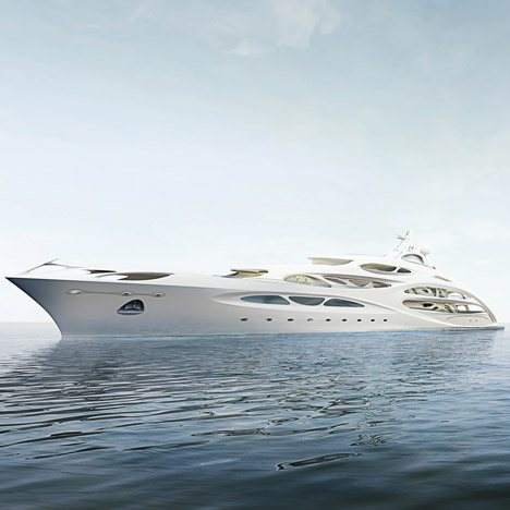 Superyacht by Zaha Hadid