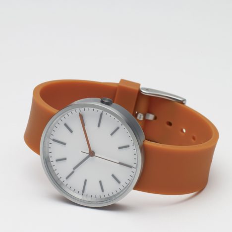 104 Series orange - Uniform Wares watch - front view